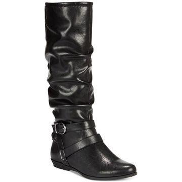 Cliffs by White Mountain Womens Fairfield Almond Toe Knee High Fashion Boots