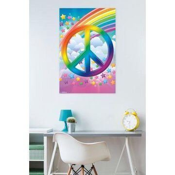 Trends International Peace Sign Rainbows Wall Poster 22.375