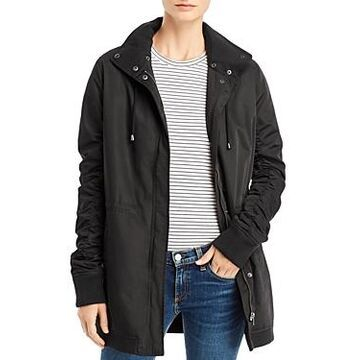 Monrow Ruched-Sleeve Parka
