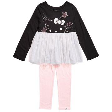 Toddler Girls 2-Pc. Colorblocked Mesh Tutu Tunic & Leggings Set