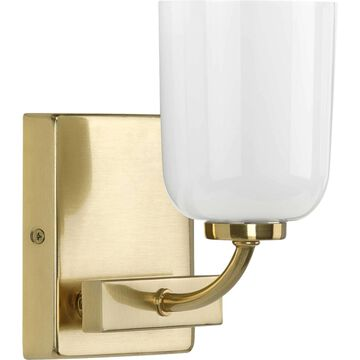Progress Lighting Moore 1-Light Brass Glam Vanity Light   P300280-012