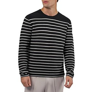 Atm Anthony Thomas Melillo Striped Cotton Pullover Sweater