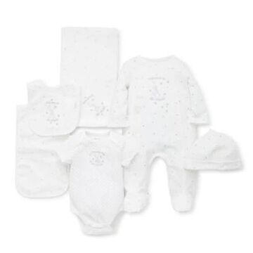 Little Me Size 6M 6-Piece Welcome To The World Gift Box In White