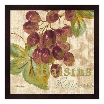 "Metaverse Art Rustic Fruit II Framed Wall Art, Brown, 12""X12"""