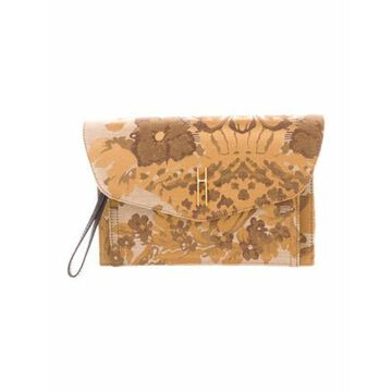Printed Bobby Clutch w/ Tags Gold