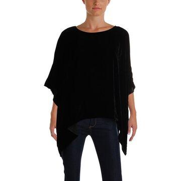 Anne Klein Womens Capelet Silk Blend Poncho