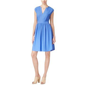 maison Jules Womens Cap Sleeve Fit & Flare Dress