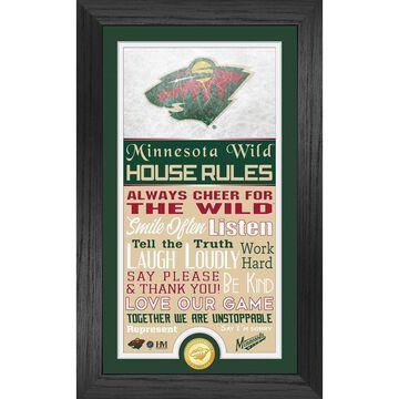 Minnesota Wild Highland Mint 12'' x 20'' House Rules Supreme Team Bronze Coin Photo Mint