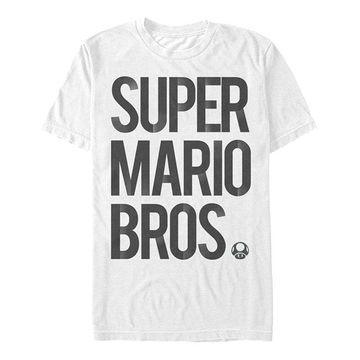 Fifth Sun Men's Tee Shirts WHITE - White 'Super Mario Bros.' Tee - Men