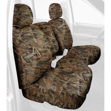 Covercraft Custom-Fit Front Bench SeatSaver Seat Covers - Polyester Fabric, Flooded Timber