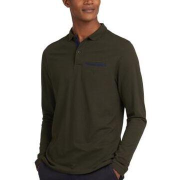 Barbour Men's Essential Long-Sleeve Pocket Polo Shirt