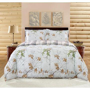 Realtree Xtra Comforter Set, Grey, Camo Size - King