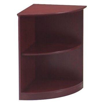Mayline Corsica 2 Shelf Quarter-Round Bookcase in Sierra Cherry