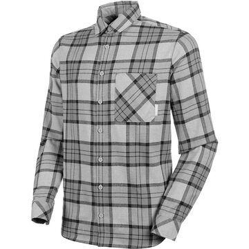 Mammut Men's Trovat LS Shirt - XL - Granit/Titanium
