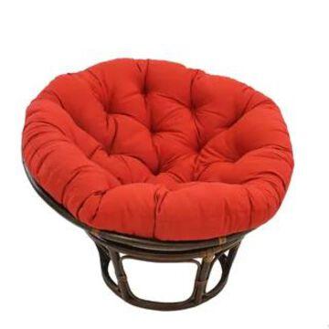 International Caravan Bali Papasan Chair with Solid Cushion