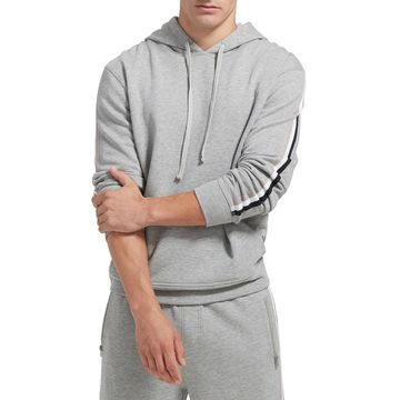 Men's French Terry Hoodie with Racing Stripe