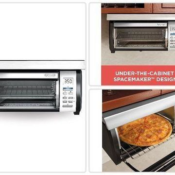 BLACK+DECKER Spacemaker Under-Counter Toaster Oven Stainless Steel Kitchenware