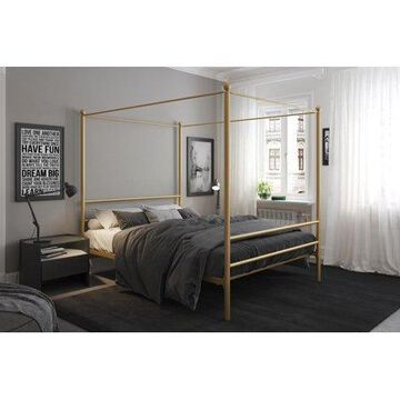 Mainstays Metal Canopy Bed, Gold