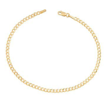 Fremada 14k Yellow Gold 2.6-mm High Polish Solid Curb Link Bracelet