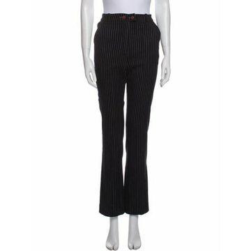 Striped Straight Leg Pants Black