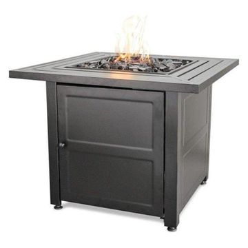 Uniflame LP Gas Outdoor Firebowl With Steel Mantel