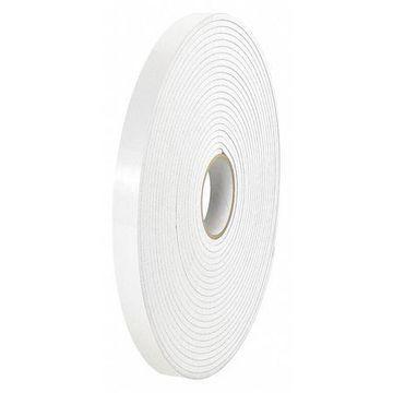 TAPE LOGIC T95359002PK Rmvble Dbl Side Foam Tape,1/32'' Thick,1/2x72 yds.,Wht,PK2