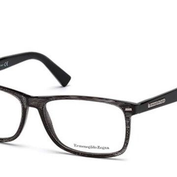 Ermenegildo Zegna EZ5056 005 Men's Glasses Black Size 55 - Free Lenses - HSA/FSA Insurance - Blue Light Block Available