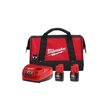 Milwaukee 48-59-2422P M12 REDLITHIUM CP2.0 Starter Pack New