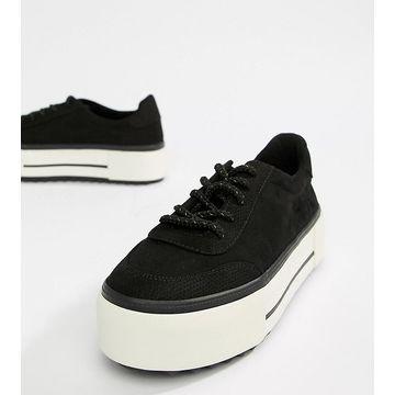 Bershka flatform sneaker in black