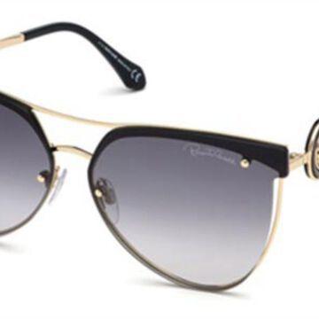 Roberto Cavalli RC 1089 32B Womenas Sunglasses Gold Size 65