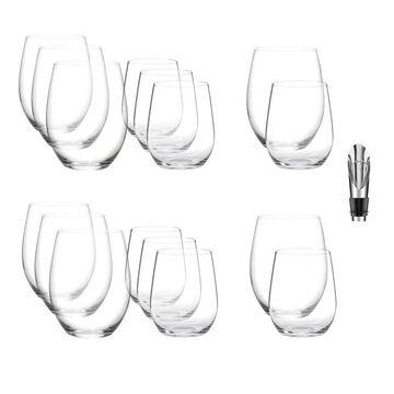 Riedel O Mixed Cabernet/ViognierTumbler (16 Pack) & Pourer w/ Stopper