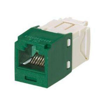 Panduit MINI-COM TX6 Plus - Modular insert - green - 1 port (pack of 2