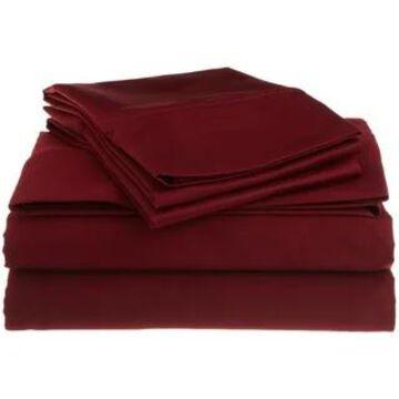 Superior Egyptian Cotton 1200 Thread Count Deep Pocket Bed Sheet Set (California King - Burgundy)