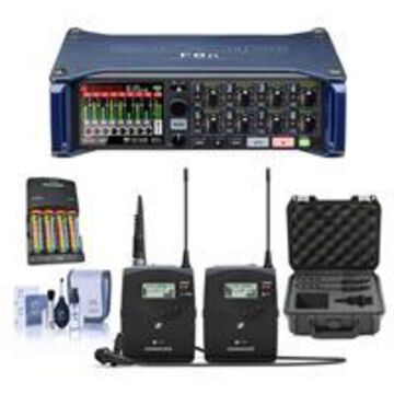 Zoom F8n Multi-Track Field Recorder - Bundle With Sennheiser ew 112 P G4 A Camera Lavalier Set, 4x AA Ni-MH Batteries With Charger, SKB iSeries Sennheiser SW Mic Case, Cleaning Kit