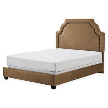 Crosley Furniture Loren Full/Queen Linen Upholstered Bed in Camel