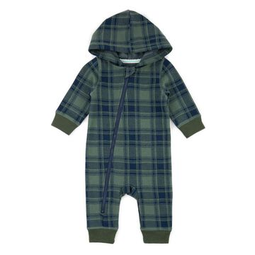 Sovereign Code™ Plaid Hooded Coverall in Green/Navy