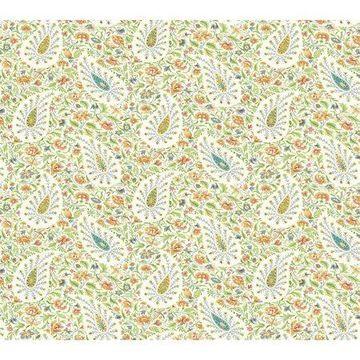 Waverly Paisley Verveine Wallpaper - Sherbert