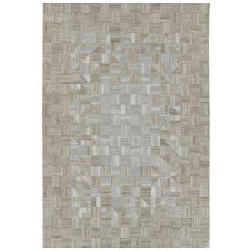 Kaleen Chaps 4 x 6 Wool Beige Indoor Geometric Area Rug Cotton in Brown   CHP05-03-46