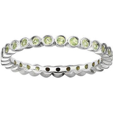 Stackable Expressions Peridot Sterling Silver Ring