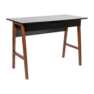Flash Furniture 42W Home Office Writing Computer Desk with Drawer, Black (GCMBLK60BKWAL) | Quill