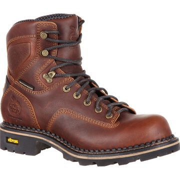 Georgia Boot Men's Comfort Core Low Heel Waterproof Logger