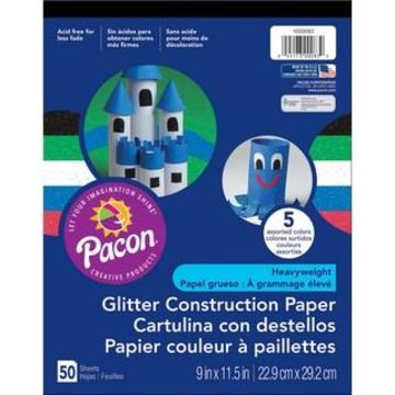 Pacon Glitter Construction Paper Pad, 9