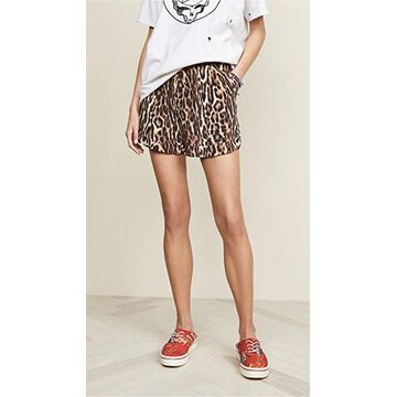 R13 Pleated High Rise Shorts
