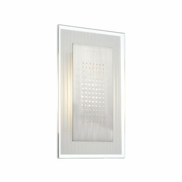 Lite Source Flynn 1-light Rectangle Wall Sconce Silver