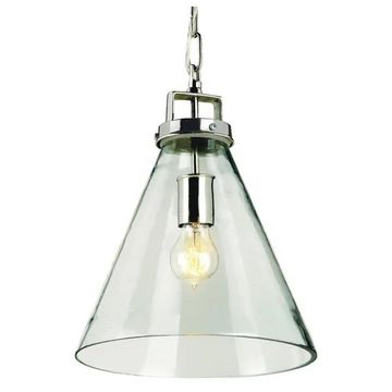 Currey and Company 9699 Vitrine 1 Light Pendant - Nickel