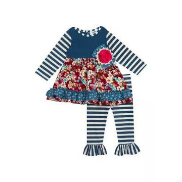 Rare Editions Girls' Toddler Girls Tiered Floral Leggings - 2 Piece Set - -