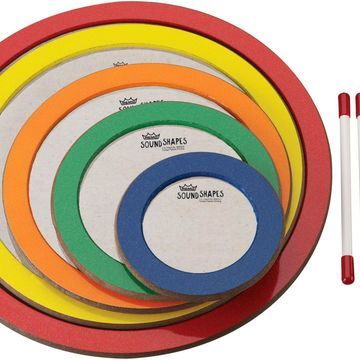 Sound Shapes 5-Piece Not So Loud Circle Pack 6, 8.25, 10.5, 12.75 and 15 in. Dedicated Colors