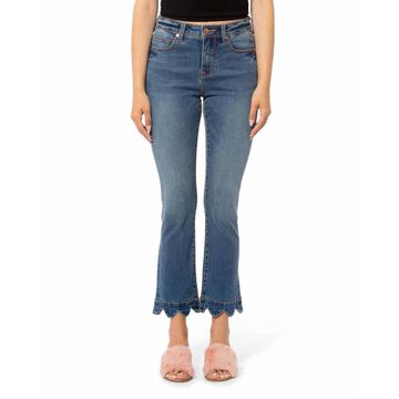 Kate High-Rise Ankle Jeans with Scallop Hem