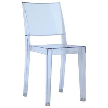 Fine Mod Imports Clear Square Side Chair, Clear