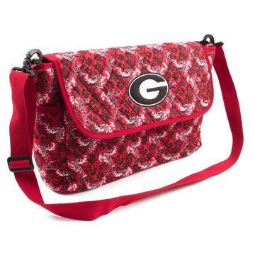Georgia Bulldogs Women's Bloom Messenger Bag - Red